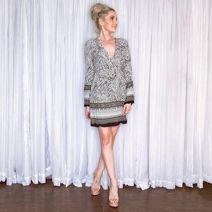 Ya Los Angeles Dresses - Long Sleeve Boho Mini Dress